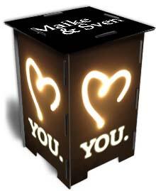 Photohocker gleiche Seiten Love you