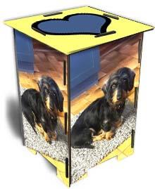 Photohocker gleiche Seiten Hund
