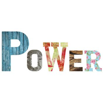 Decor Words - Power