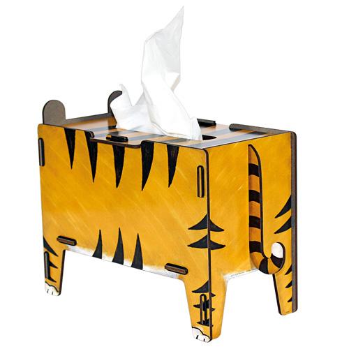 werkhaus 童趣动物面纸盒 (老虎) - 玩德疯 | pinkoi