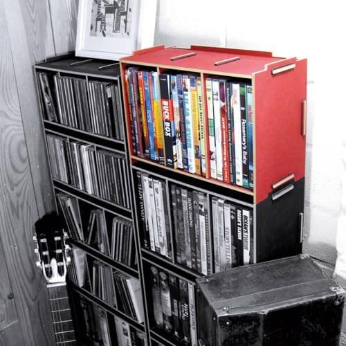 medienbox dvd stapelbar werkhaus online shop. Black Bedroom Furniture Sets. Home Design Ideas
