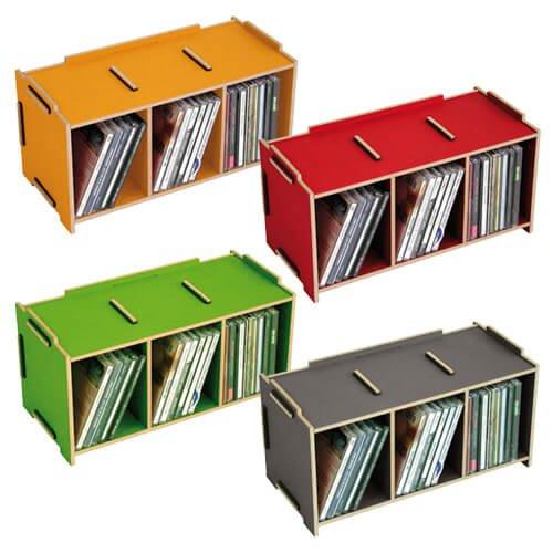 werkhaus online shop 3er set medienbox cd stapelbar. Black Bedroom Furniture Sets. Home Design Ideas