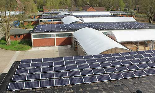 Photovoltaikanlage auf dem Werksgelände von WERKHAUS in Bad Bodenteich