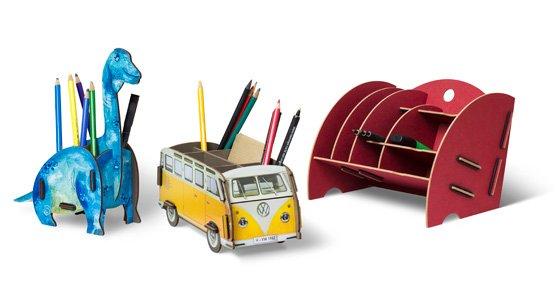 Dino-Stifteboxen, Bulli-Stifteboxen und Organizer sind sehr beliebt.